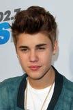 Justin Bieber llega   fotos de archivo libres de regalías