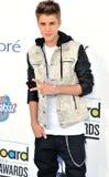 Justin Bieber llega las concesiones 2012 de la cartelera Fotografía de archivo libre de regalías