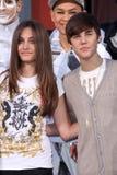 Justin Bieber, Michael Jackson, Paris Jackson Foto de Stock