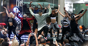 Justin Bieber. NEW YORK-SEP 10: Singer Justin Bieber performs on NBC's 'TODAY Show' at Rockefeller Plaza on September 10, 2015 in New York City royalty free stock images
