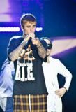 Justin Bieber. In Purpose tour, koncert in Prague, Czech Republic, 12.11.2016 stock images
