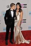 Justin Bieber, Selena Gómez, Stockfoto