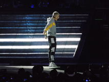 Justin Bieber - tour du monde CHILI de but photo stock