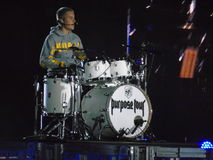Justin Bieber - tour du monde de but au Chili Photos stock