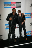 Justin Bieber,Usher Stock Photos