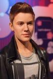 Justin Bieber waxwork exhibit stock photography