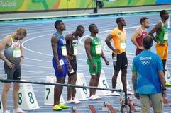 Justin Gatlin, een Amerikaanse sprinter Royalty-vrije Stock Foto
