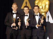 Justin Hurwitz, Benj Pasek och Justin Paul royaltyfri bild