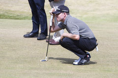 Justin Leonard on Putting Green Stock Image
