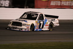 Justin Lofton NASCAR Truck Series ORP Exit 2 Night Royalty Free Stock Images