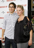 Justin Long and Kaitlin Doubleday Stock Image