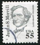 Justin Morrill. UNITED STATES - CIRCA 1999: stamp printed by United states, shows Justin Morrill, circa 1999 Stock Image