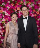 Justin Peck at the 2018 Tony Awards. Choreographer Justin Peck and Patricia Delgado arrive on the red carpet for the 72nd Annual Tony Awards held at Radio City Stock Photography