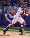 Justin Phillips. New York Mets C Justin Phillips.  Image taken from color slide Royalty Free Stock Photography