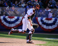 Justin Phillips. New York Mets catcher Justin Phillips Stock Images