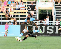 Justin Portillo, Midfielder, Charleston Battery. Charleston Battery midfielder Justin Portillo #20 Stock Photos