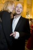 Justin Portman ed Eva Herzigova Fotografie Stock
