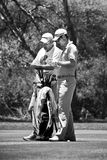 Justin Rose and Caddie Royalty Free Stock Photo