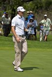 Justin Rose on the Green Royalty Free Stock Image