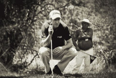 Justin Rose - Takes Aim - NGC2010 Stock Photo