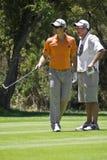 Justin Rose y caddie - NGC2010 Foto de archivo