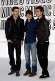 Justin Timberlake, Jesse Eisenberg και Andrew Garfield Στοκ εικόνες με δικαίωμα ελεύθερης χρήσης