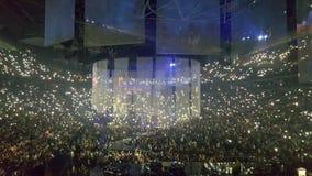 Justin timberlake koncerta Toronto scotiabank arena fotografia stock