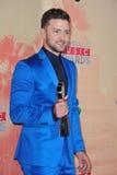 Justin Timberlake. LOS ANGELES, CA - MARCH 29, 2015: Justin Timberlake at the 2015 iHeart Radio Music Awards at the Shrine Auditorium stock image