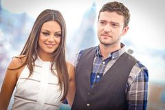 Justin Timberlake and Mila Kunis Royalty Free Stock Photo