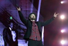 Justin Timberlake. Rio de Janeiro, September 18, 2017.Singer singer Justin Timberlake, during the presentation of his show at Rock in Rio 2017 in Rio de Janeiro royalty free stock image