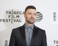 """Justin Timberlake. Singer/musician/actor Justin Timberlake arrives on the red carpet for the world premiere of """"The Devil and the Deep Blue Sea,"""" at the 2016 Stock Image"""