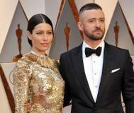 Justin Timberlake und Jessica Biel Stockfotografie