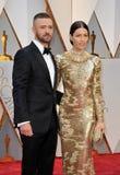 Justin Timberlake und Jessica Biel Stockbild