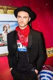 Justin Timberlake, Wachsstatue, Amsterdam Madame-Tussauds stockfoto
