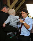 Justin Trudeau Baby Sussex Stock Images