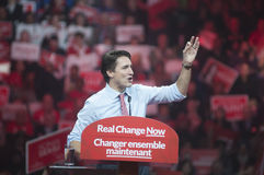Justin Trudeau election rally royalty free stock photo