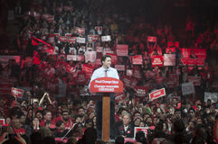 Justin Trudeau election rally Stock Photography