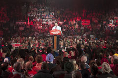 Justin Trudeau election rally Royalty Free Stock Image