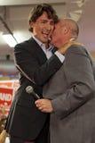 Justin Trudeau en George Smitherman royalty-vrije stock afbeelding