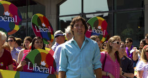 Justin Trudeau. Leader of the Liberal federal party at the gay pride parade in Montreal stock photos