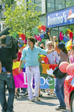 Justin Trudeau. Leader of the Liberal federal party at the gay pride parade in Montreal stock images