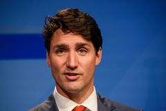 Justin Trudeau, Premierminister von Kanada stockbilder