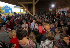 Justin Trudeau Sussex Crowd People Stock Photo