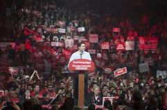 Justin Trudeau-Wahlkampfkundgebung stockfotografie