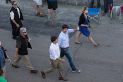 Justin Trudeau waves in Charlottetown Royalty Free Stock Image
