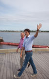 Justin Trudeau waves in Charlottetown Royalty Free Stock Photos