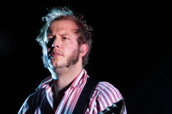 Justin Vernon, lead singer of Bon Iver band, performs at Barcelona Royalty Free Stock Images