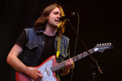 Justin Young, leader of the English indie rock band The Vaccines Stock Image