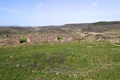 Justiniana Prima, cidade de Roman Byzantine, as paredes imagens de stock