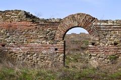 Justiniana Prima, cidade de Roman Byzantine, a porta foto de stock royalty free